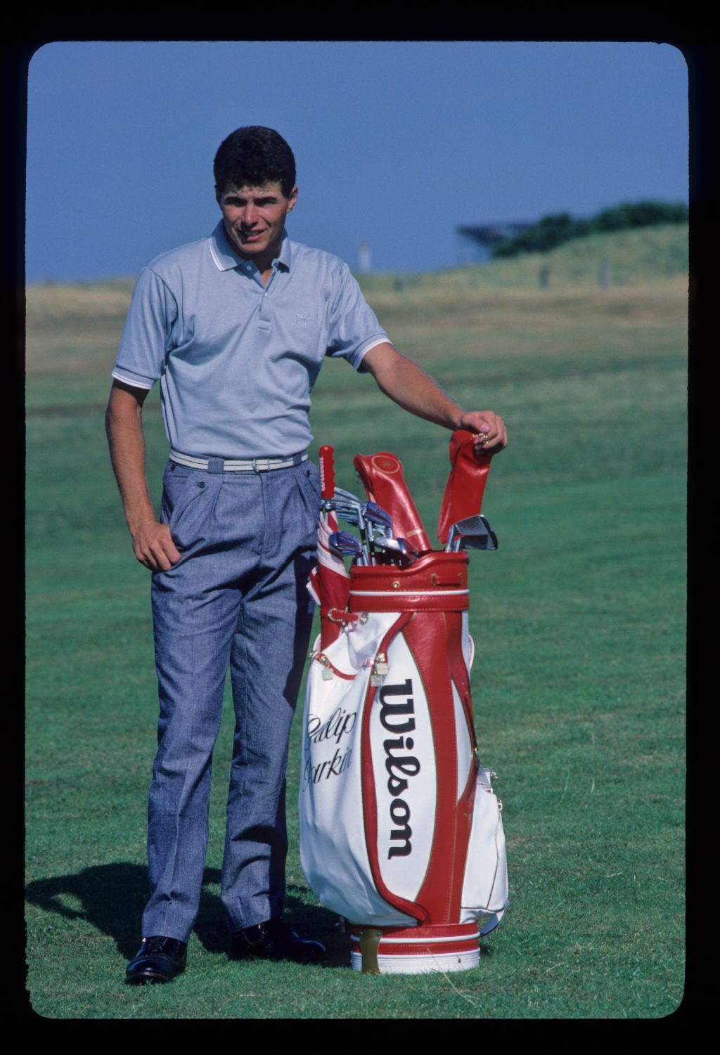 Philip Parkin posing for the camera during the 1985 Open Championship