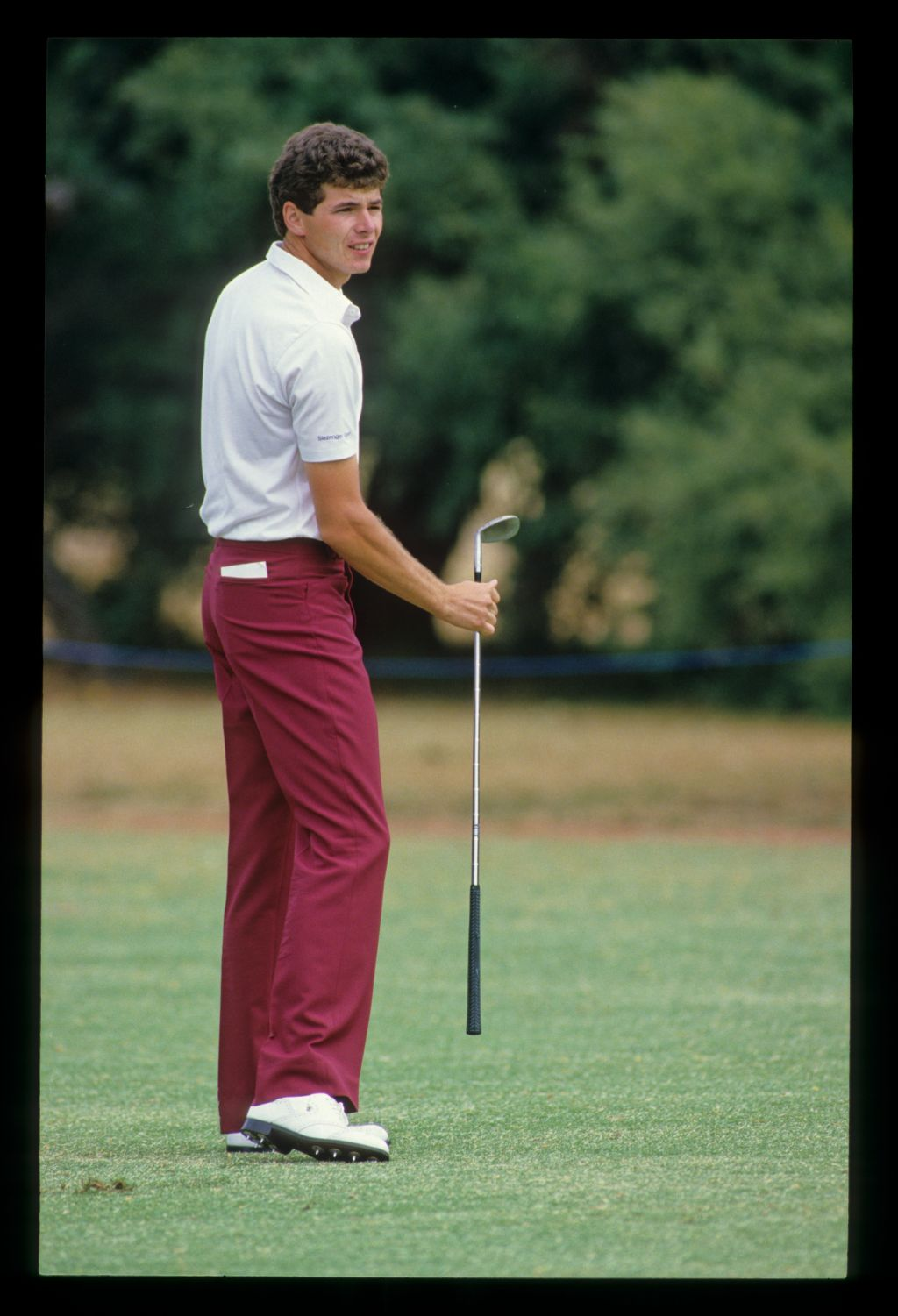 Philip Parkin reacting to a shot during the 1986 Australian Masters