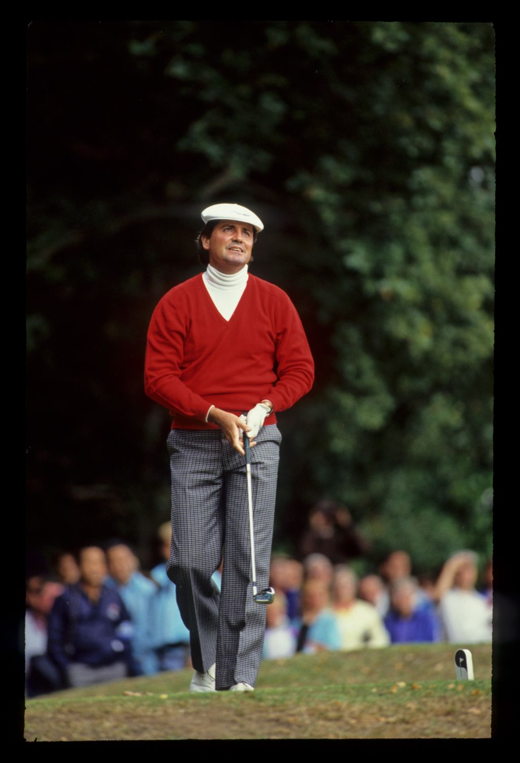 Mark McNulty watching a tee shot closely on his way to second place during the 1990 Suntory World Matchplay