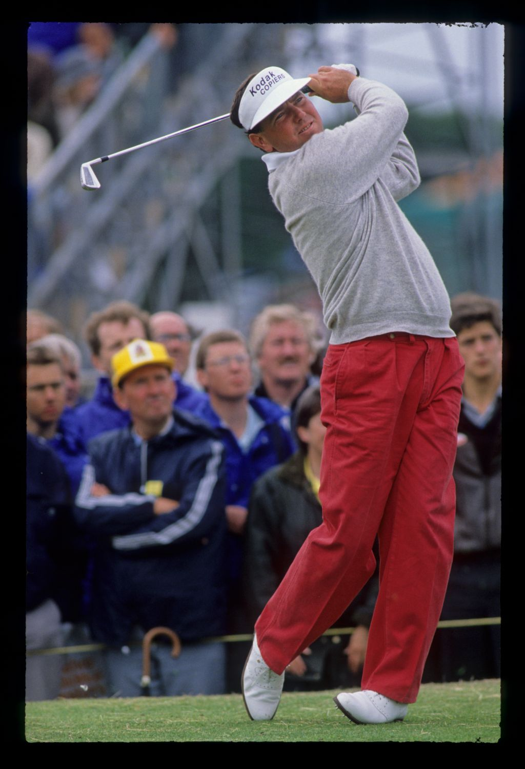 Mark O'Meara following through on the tee during the 1988 Open Championship