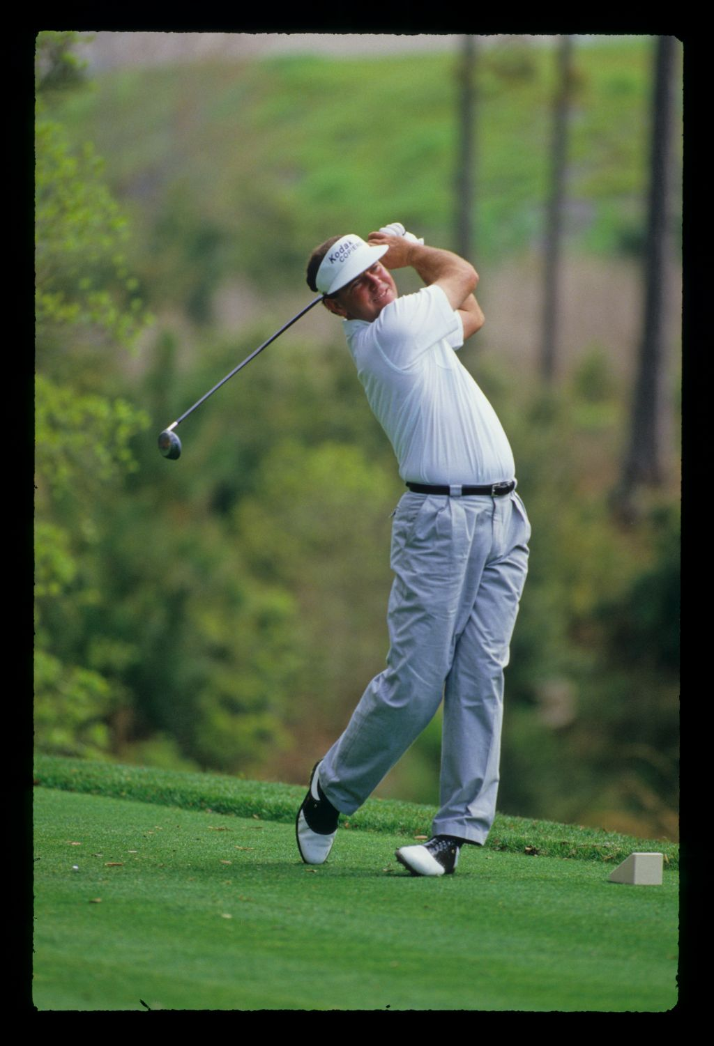 Mark O'Meara following through on the tee during the 1988 TPC