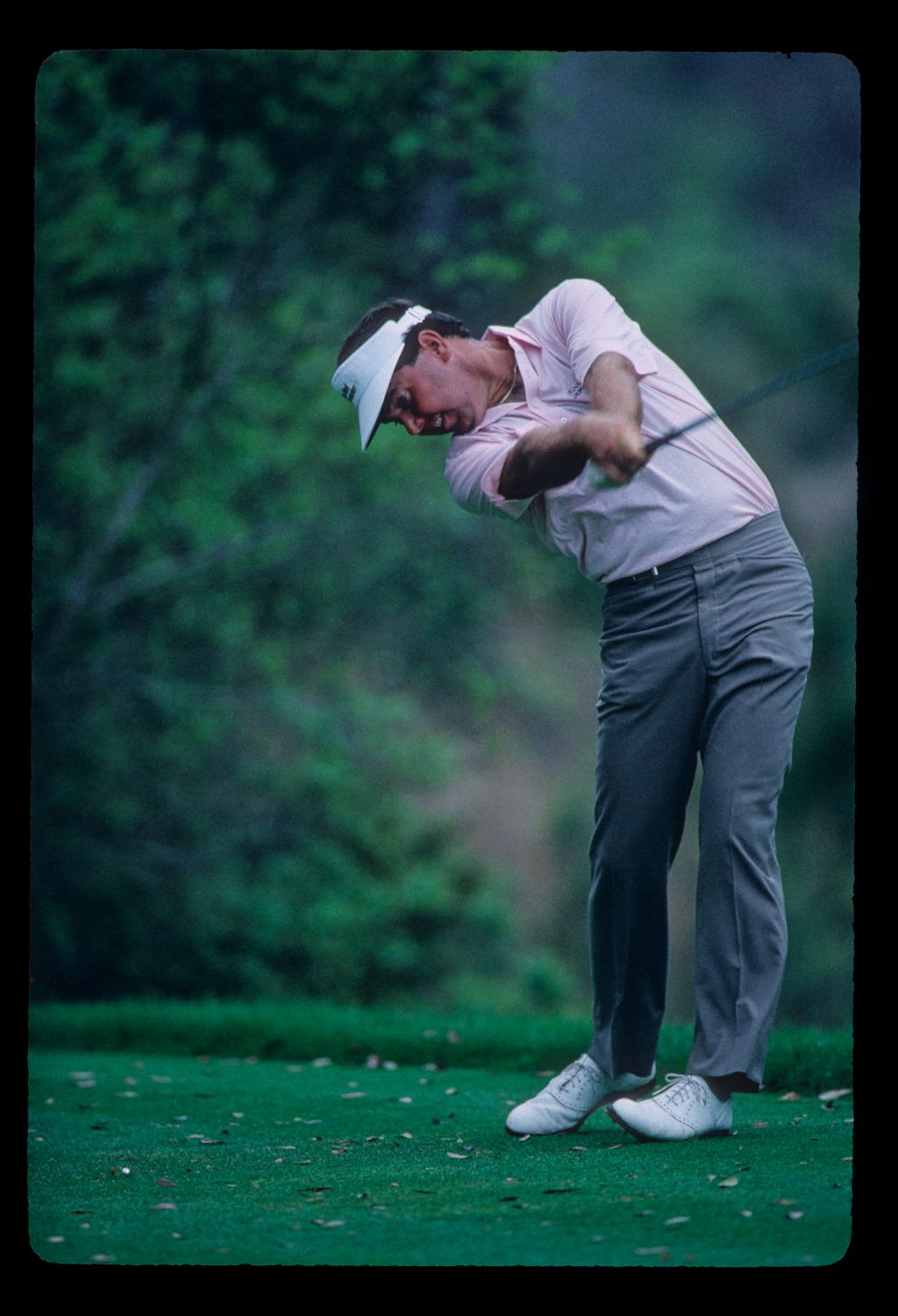 Mark O'Meara extending through the ball on his way to third place during the 1987 TPC