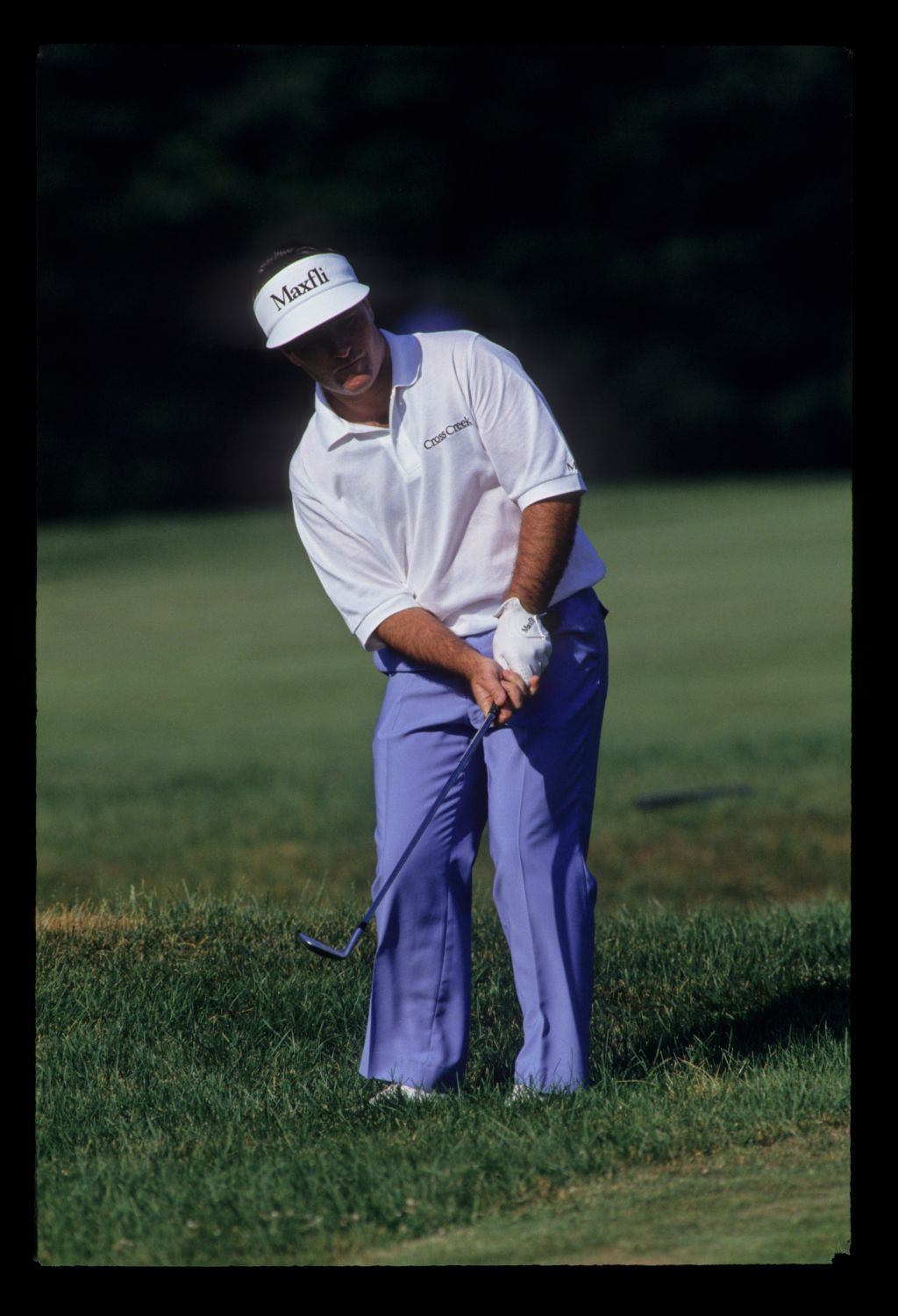 Craig Parry chipping from the greenside rough on his way to third place during the 1993 US Open