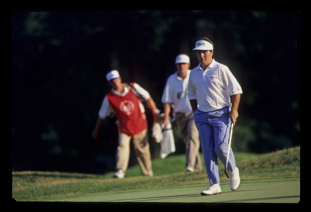 Craig Parry entering the green on his way to third place during the 1993 US Open