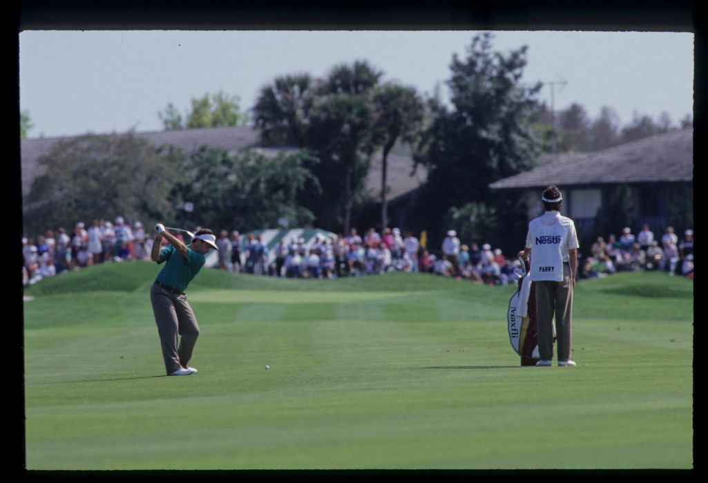 Craig Parry playing an approach shot during the 1992 Nestle Invitational