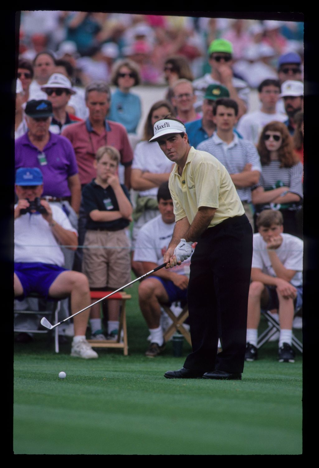 Craig Parry preparing to hit from the tee during the 1992 Masters