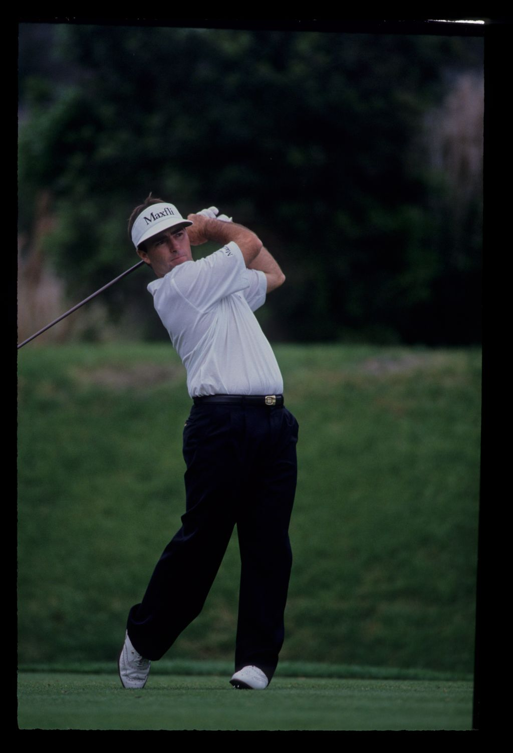 Craig Parry following through on his way to sixth place during the 1992 TPC