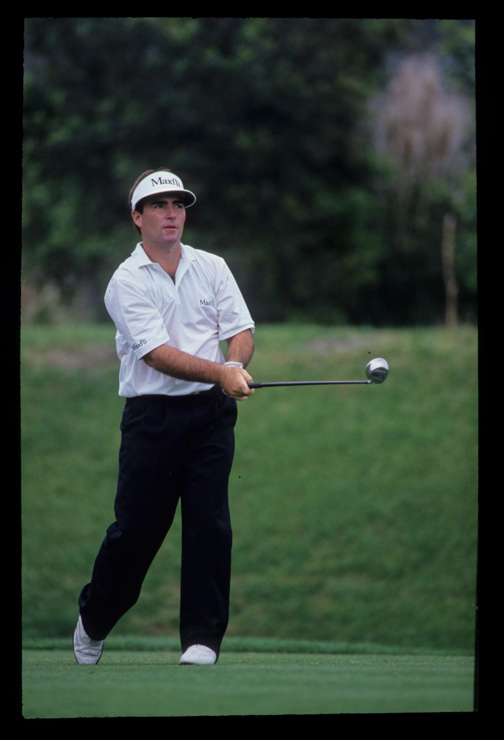 Craig Parry watching closely from the tee on his way to sixth place during the 1992 TPC