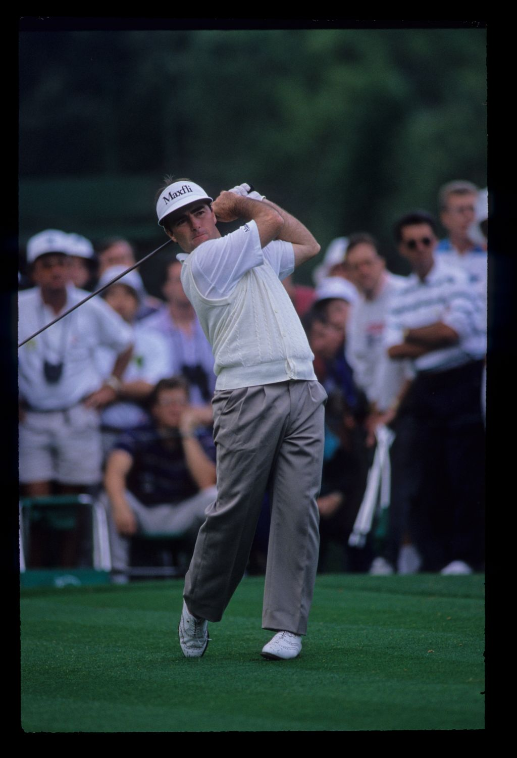 Craig Parry following through on the tee during the 1992 Masters