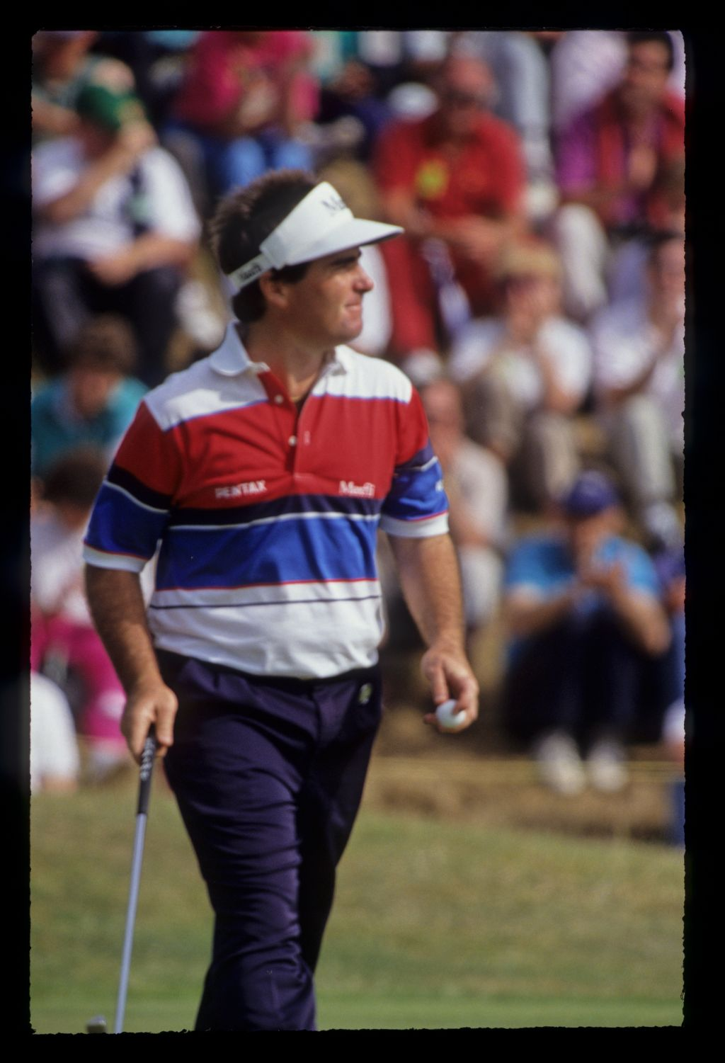 Craig Parry leaving the green on his way to eighth place during the 1991 Open Championship