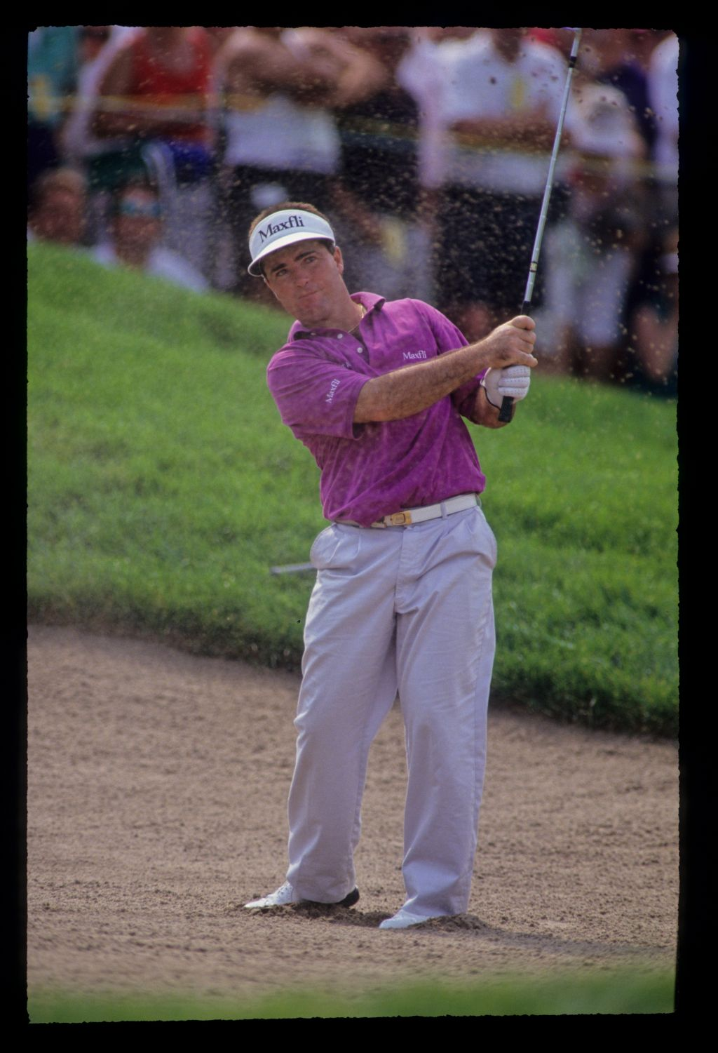 Craig Parry splashing from a bunker during the 1991 US Open