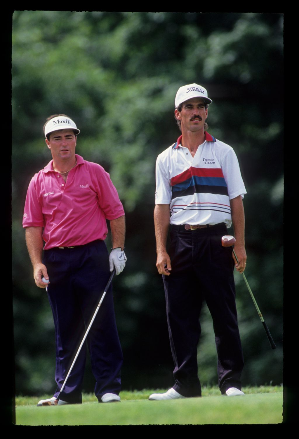 Craig Parry and Corey Pavin on the tee during the 1991 US Open