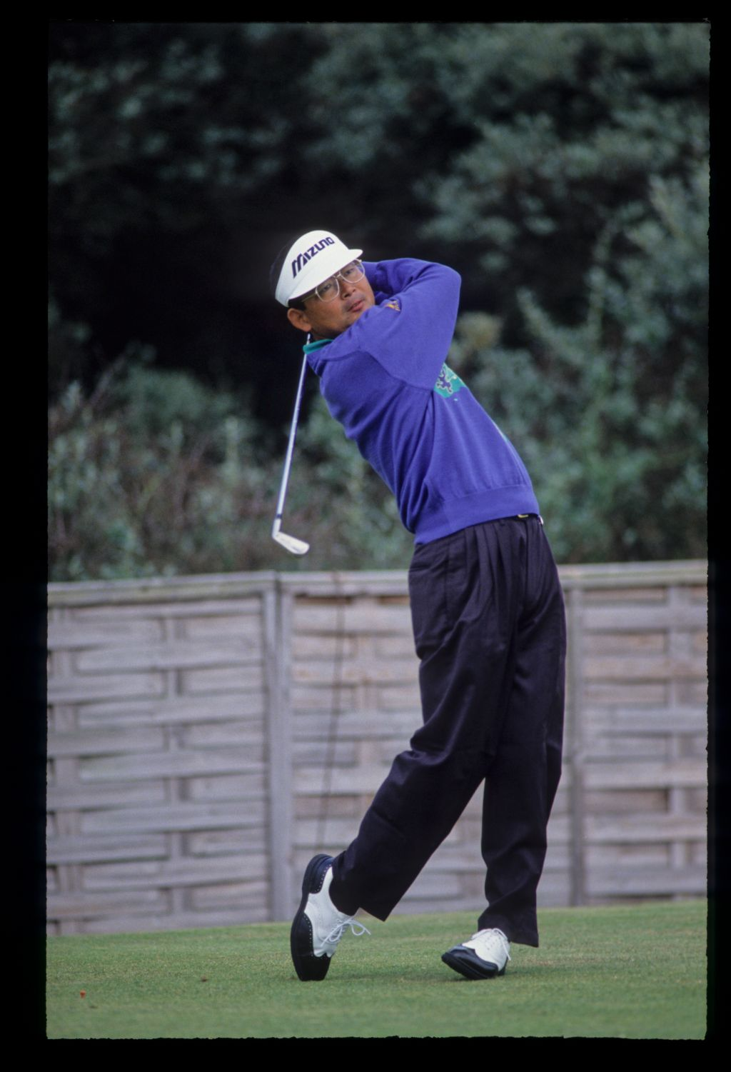 Tommy Nakajima following through on the tee during the 1992 Open Championship