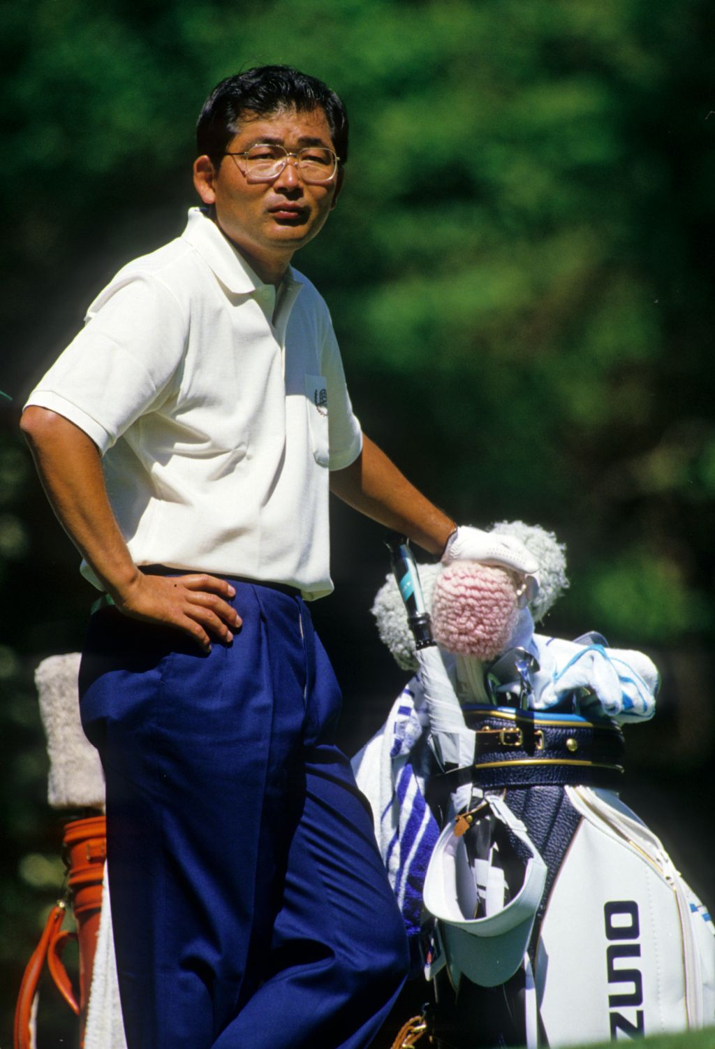 Tommy Nakajima looking thoughtful on the tee during the 1988 Masters