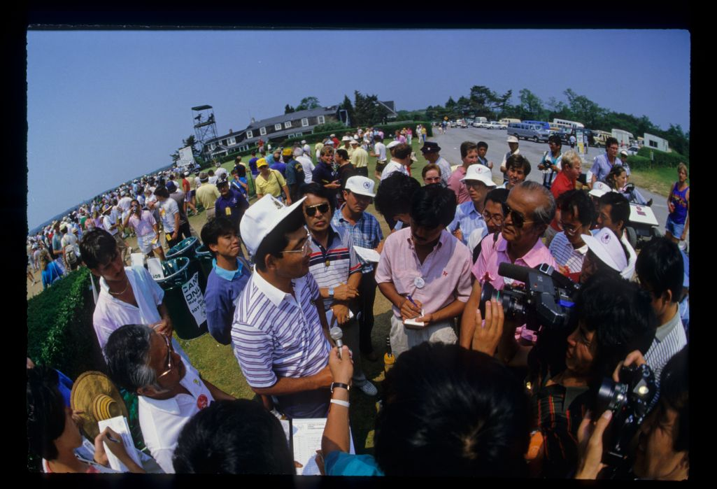 Tommy Nakajima meeting the fans during the 1986 US Open