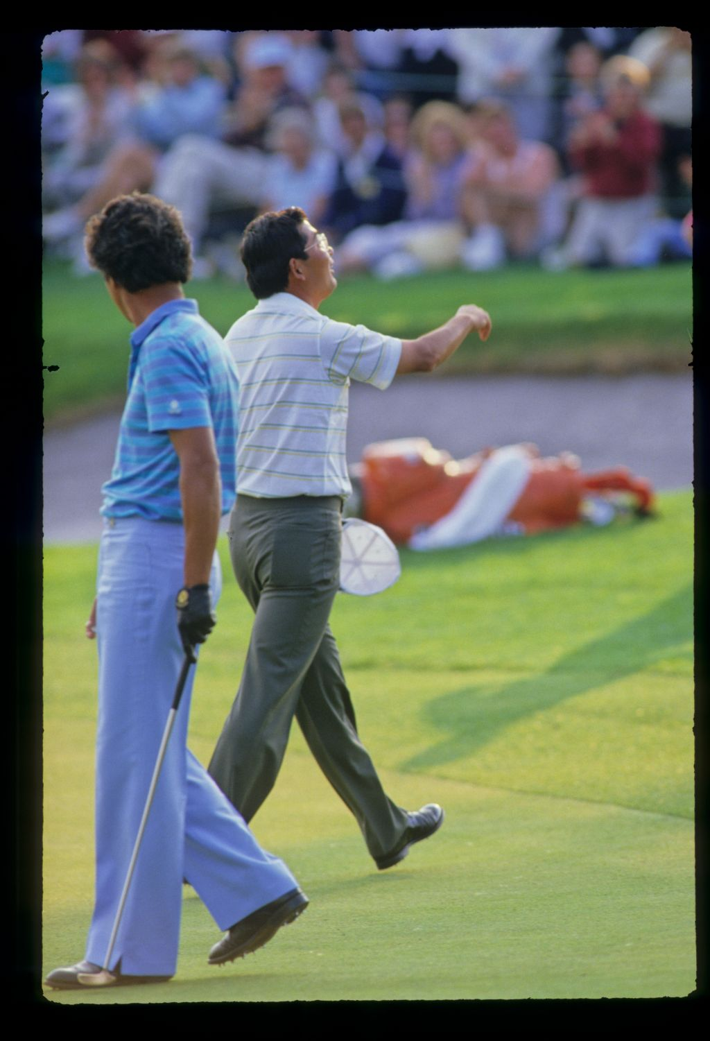 Tommy Nakajima leaving the green on his way to sixth place during the 1987 Hertz Bay Hill Classic
