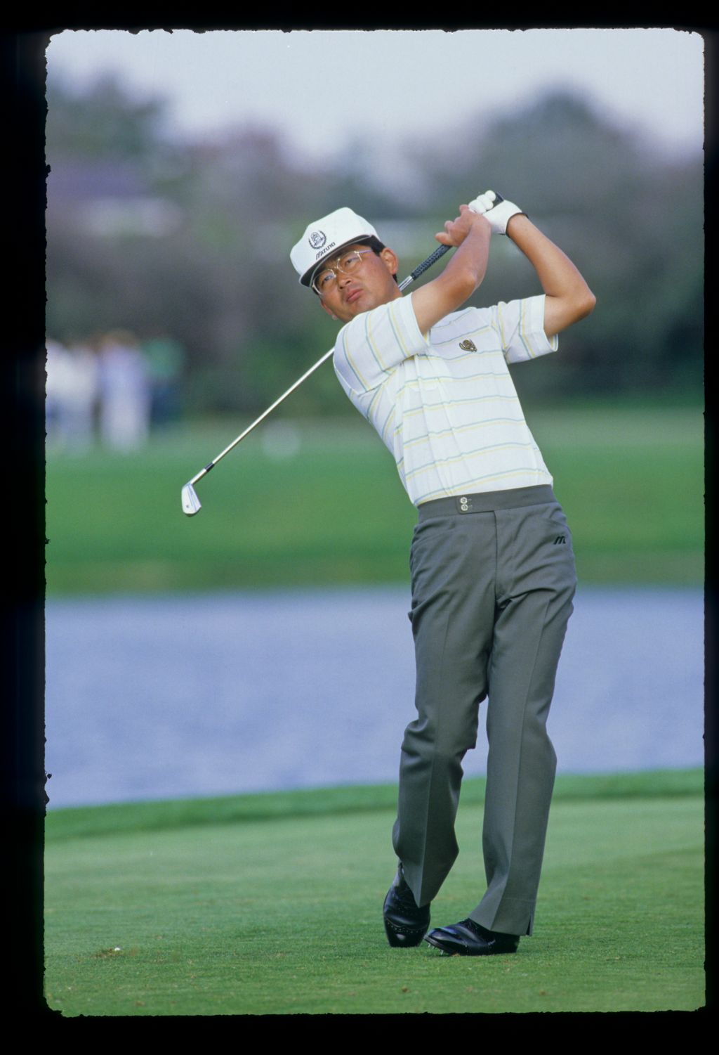 Tommy Nakajima following through on the tee on his way to sixth place during the 1987 Hertz Bay Hill Classic