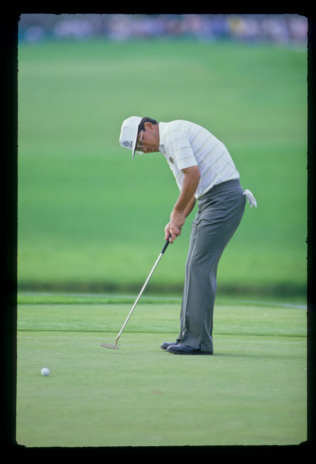 Tommy Nakajima putting on his way to sixth place during the 1987 Hertz Bay Hill Classic