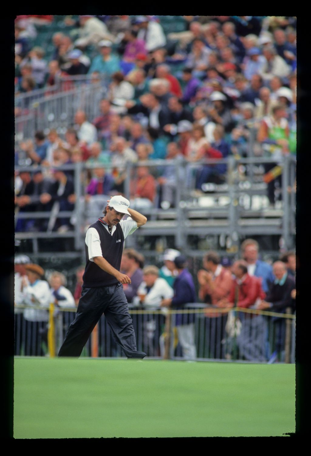 Corey Pavin looking thoughtful on his way to fourth place during the 1993 Open Championship