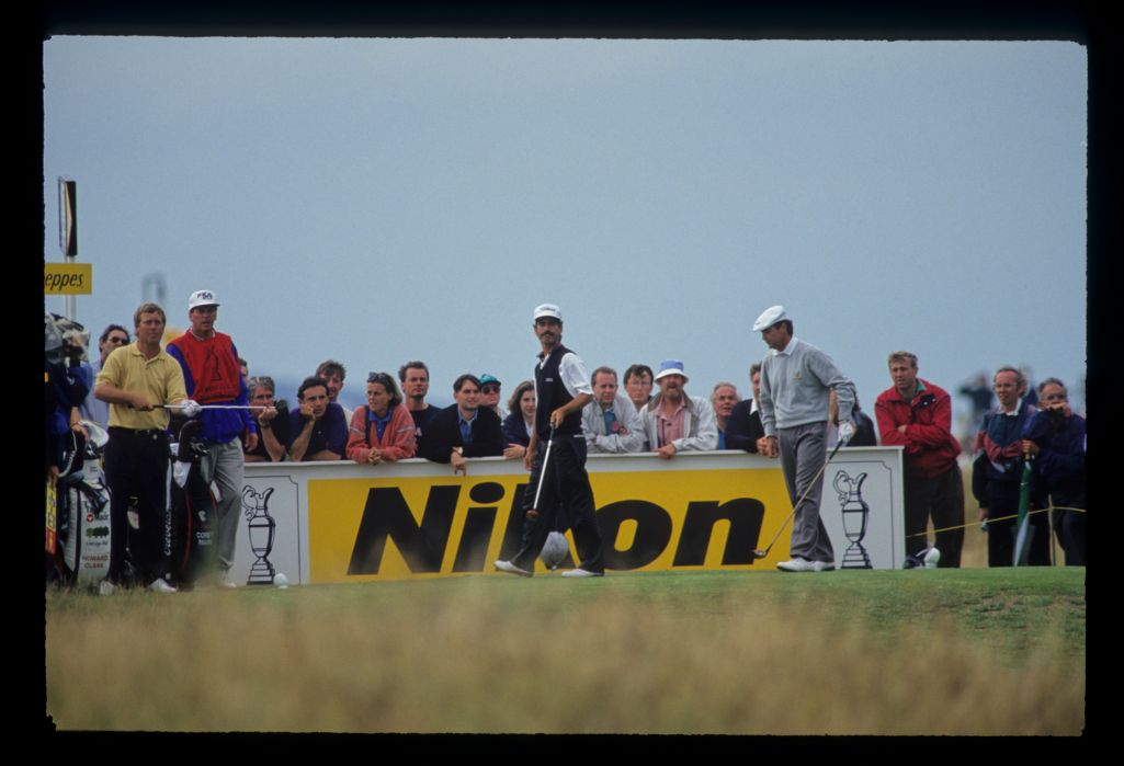 Corey Pavin watching closely from the tee on his way to fourth place during the 1993 Open Championship