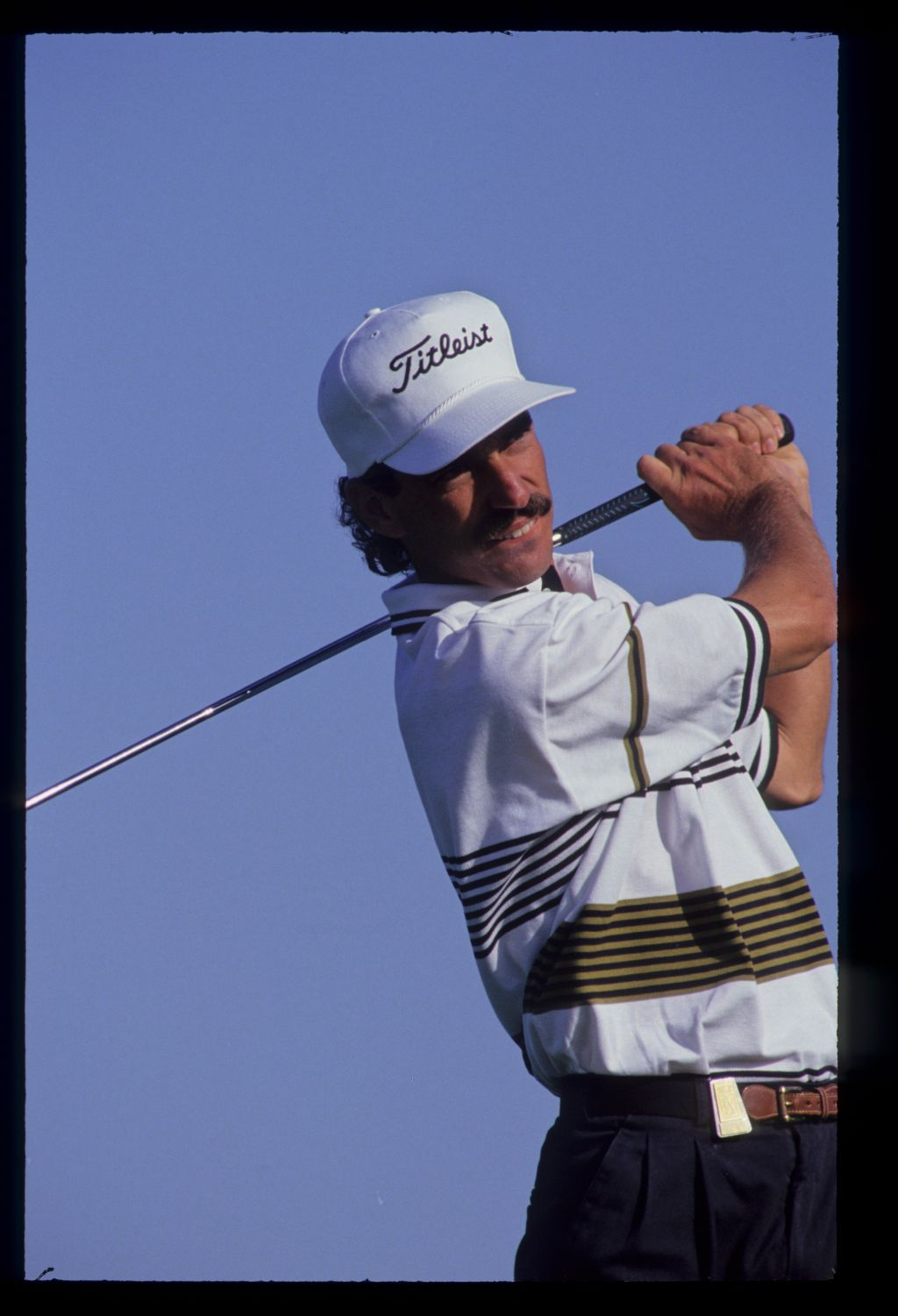Corey Pavin following through on the tee during the 1992 Nestle Invitational