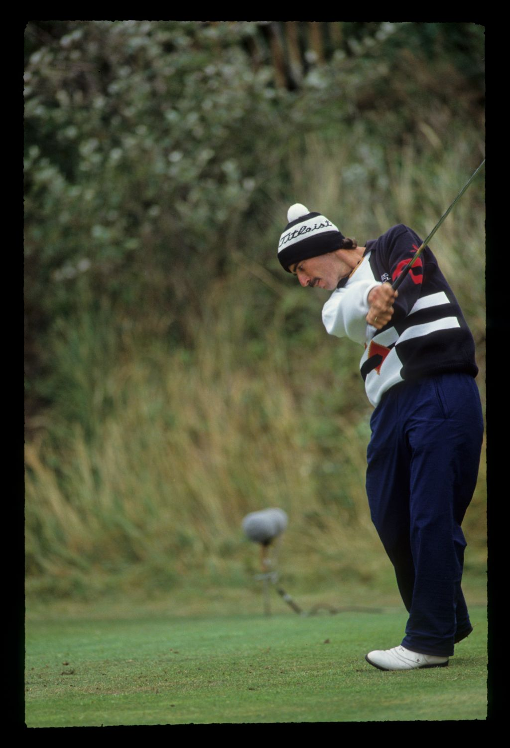 Corey Pavin just after impact on the tee during the 1991 Open Championship