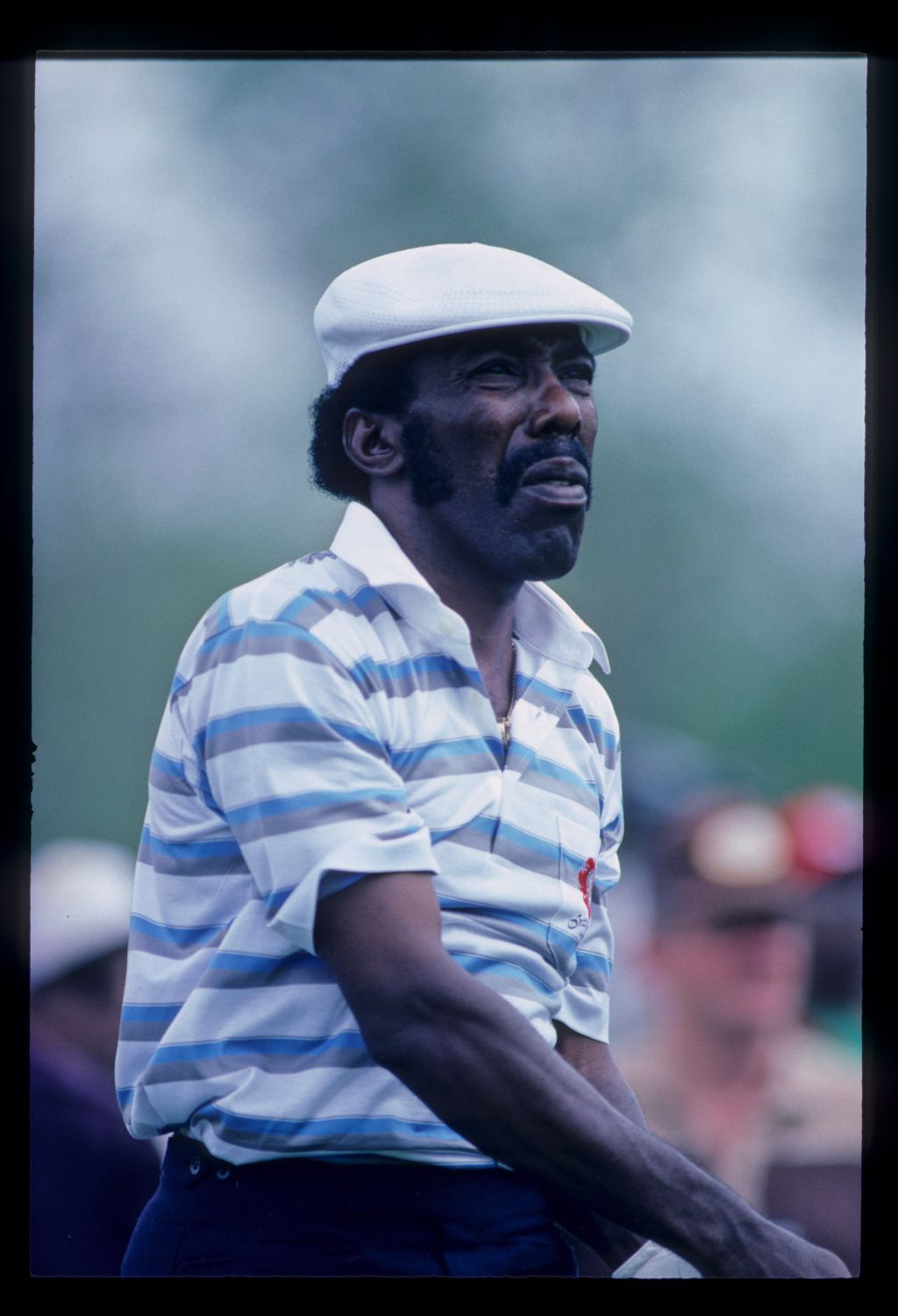 Calvin Peete watching his shot closely during the 1987 Phoenix Open