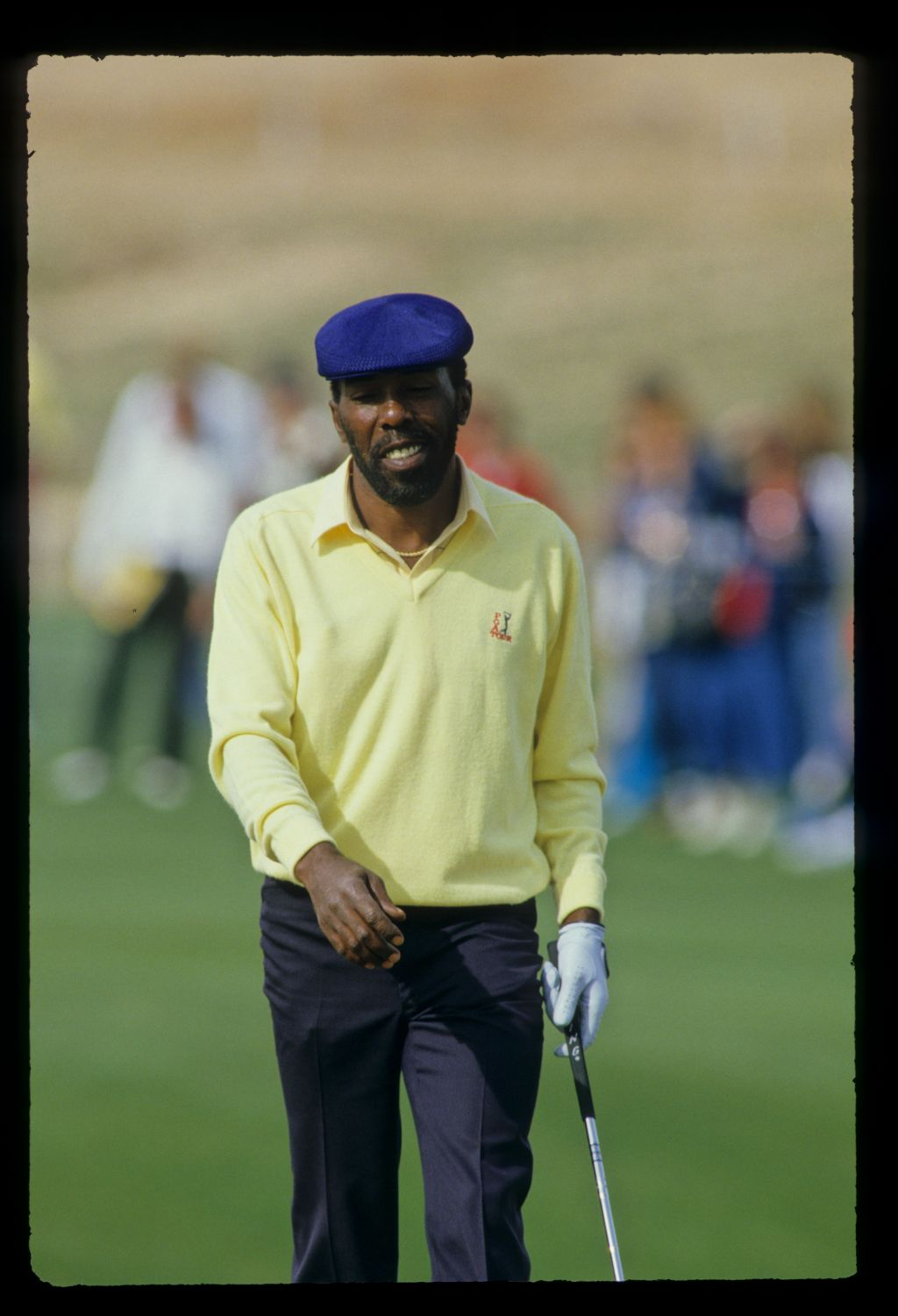 Calvin Peete on the green during the 1987 Phoenix Open