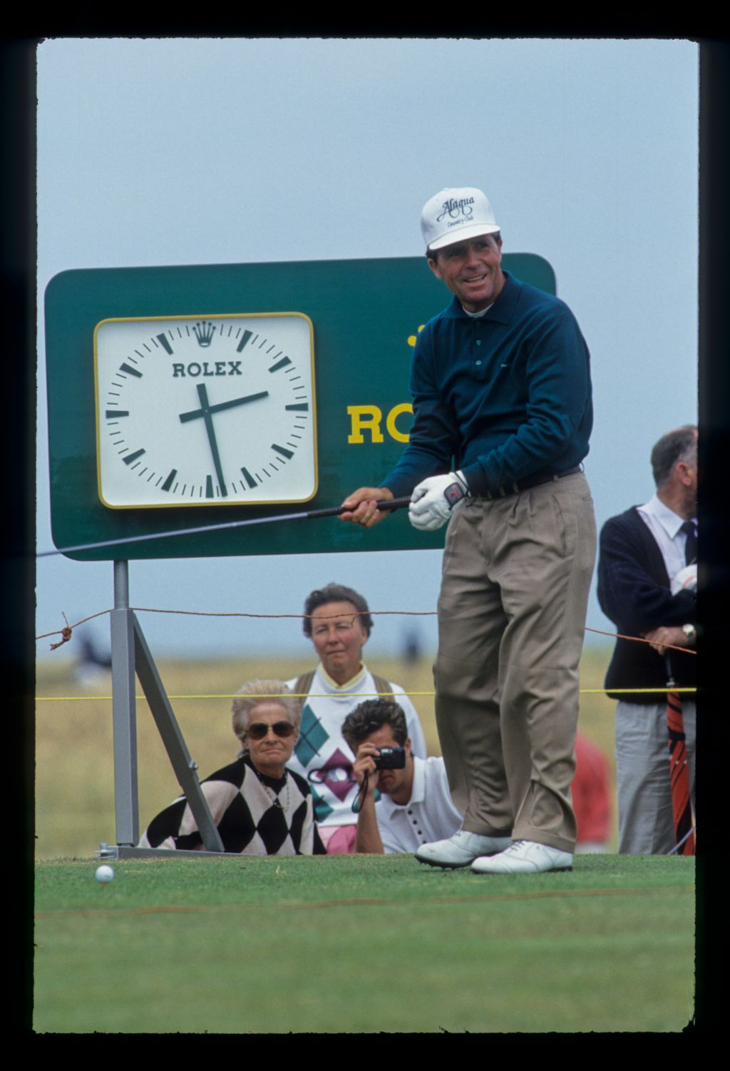 Gary Player preparing to tee off during the 1993 Open Championship