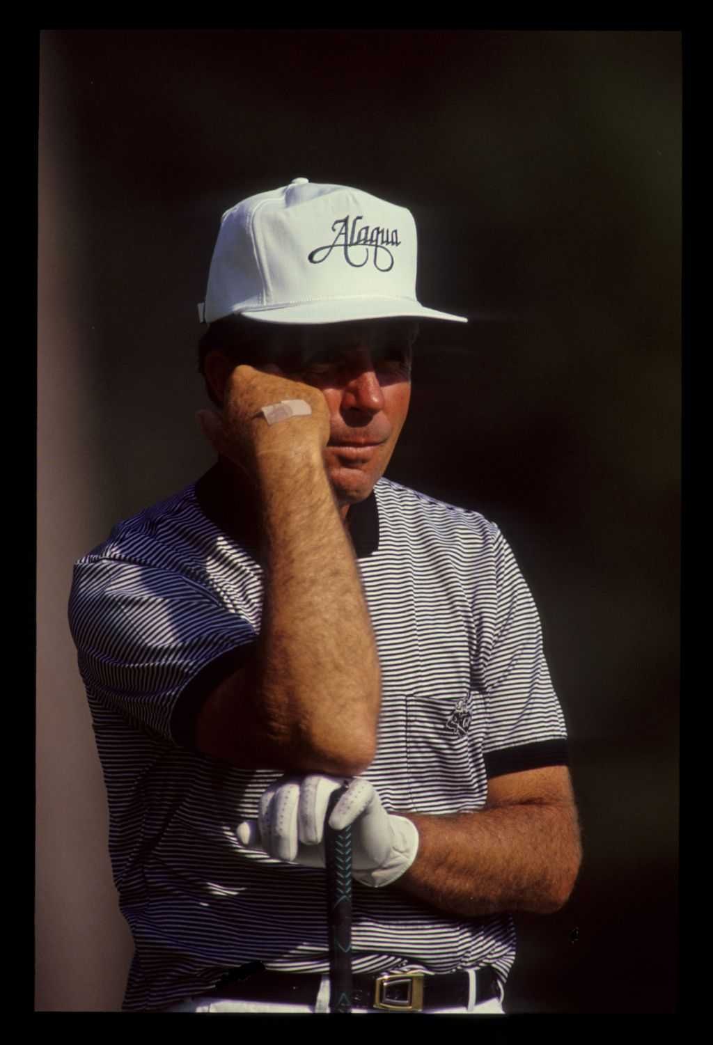 Gary Player waiting his turn on the tee during the 1990 Masters
