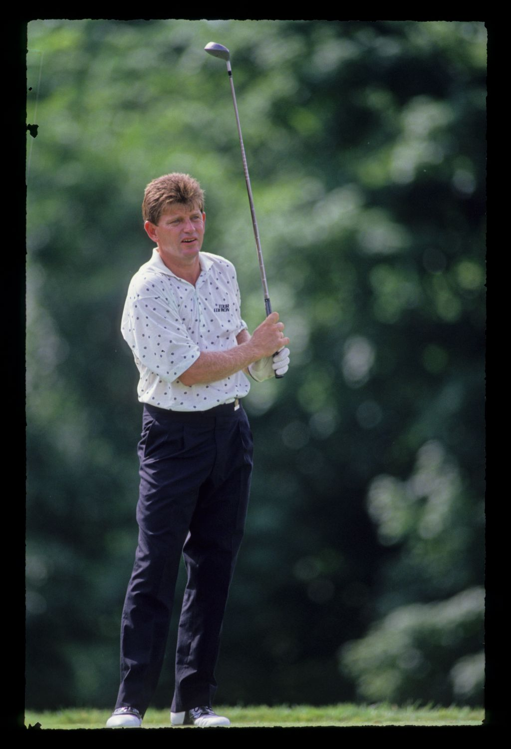 Nick Price watching his drive closely during the 1991 US Open