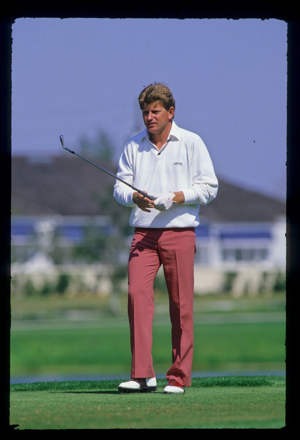 Nick Price on the tee during the 1987 Hertz Bay Hill Classic