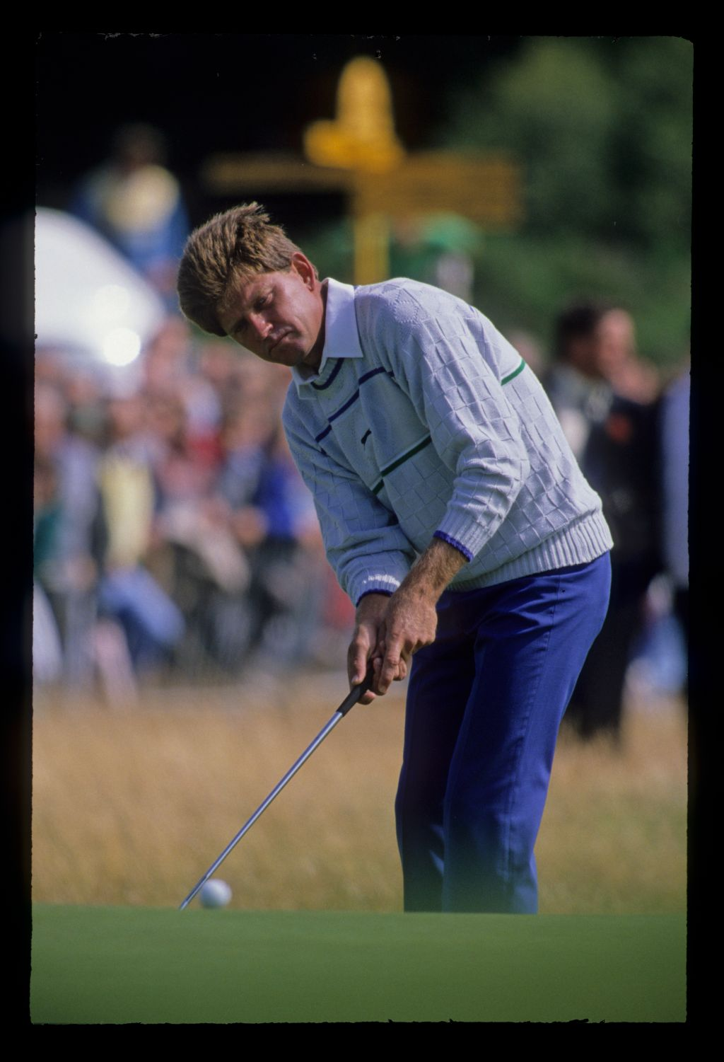Nick Price putting from the fringe during the 1988 Open Championship