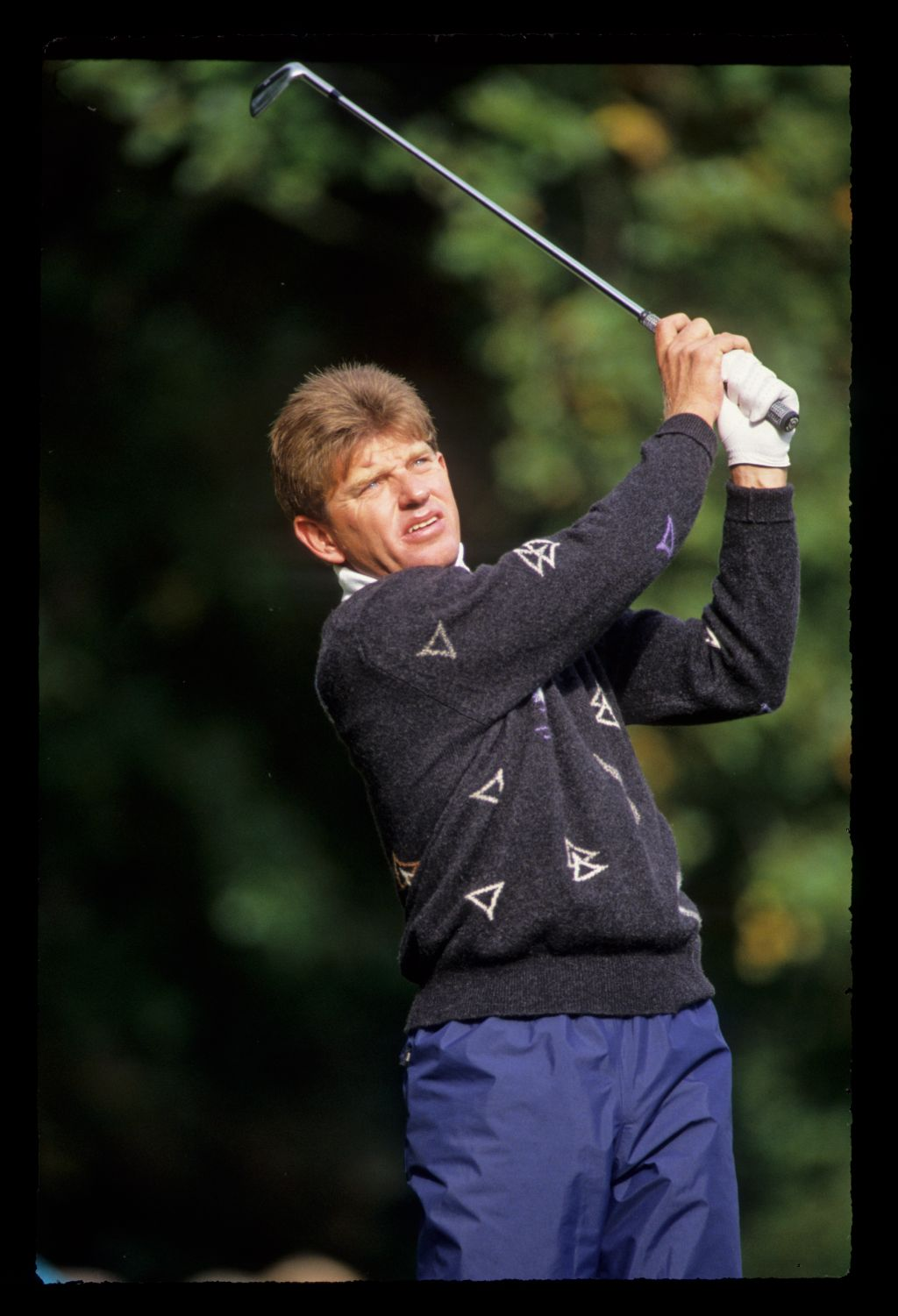 Nick Price hands high on the tee during the 1991 Toyota World Matchplay
