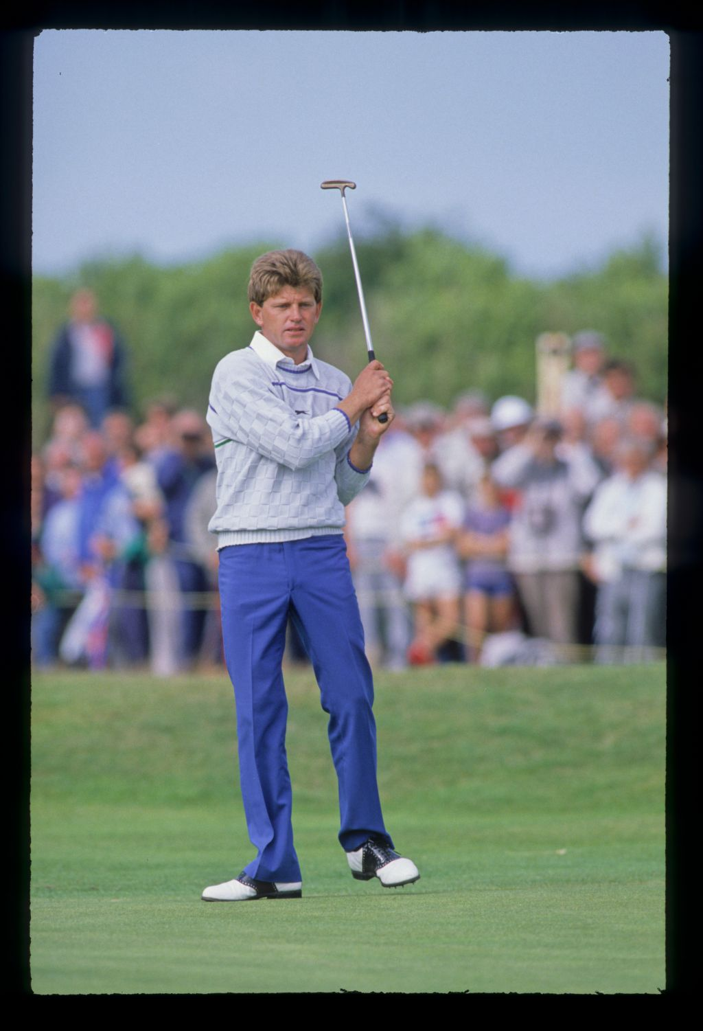 Nick Price putting on his way to second place during the 1988 Open Championship