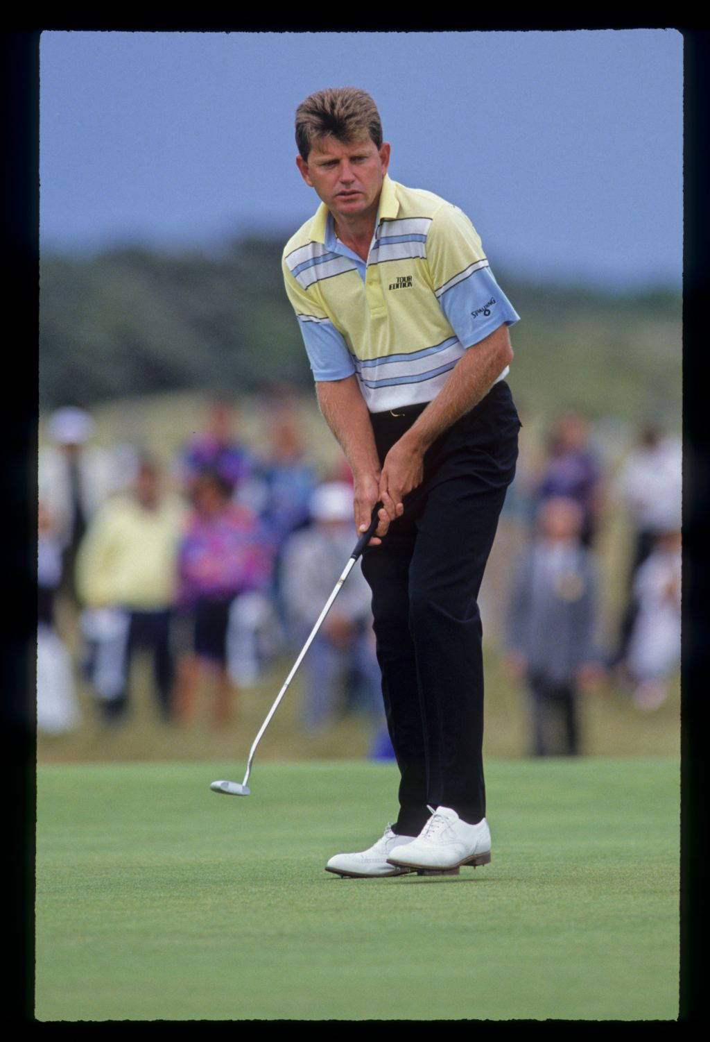Nick Price stepping after a putt during the 1992 Open Championship