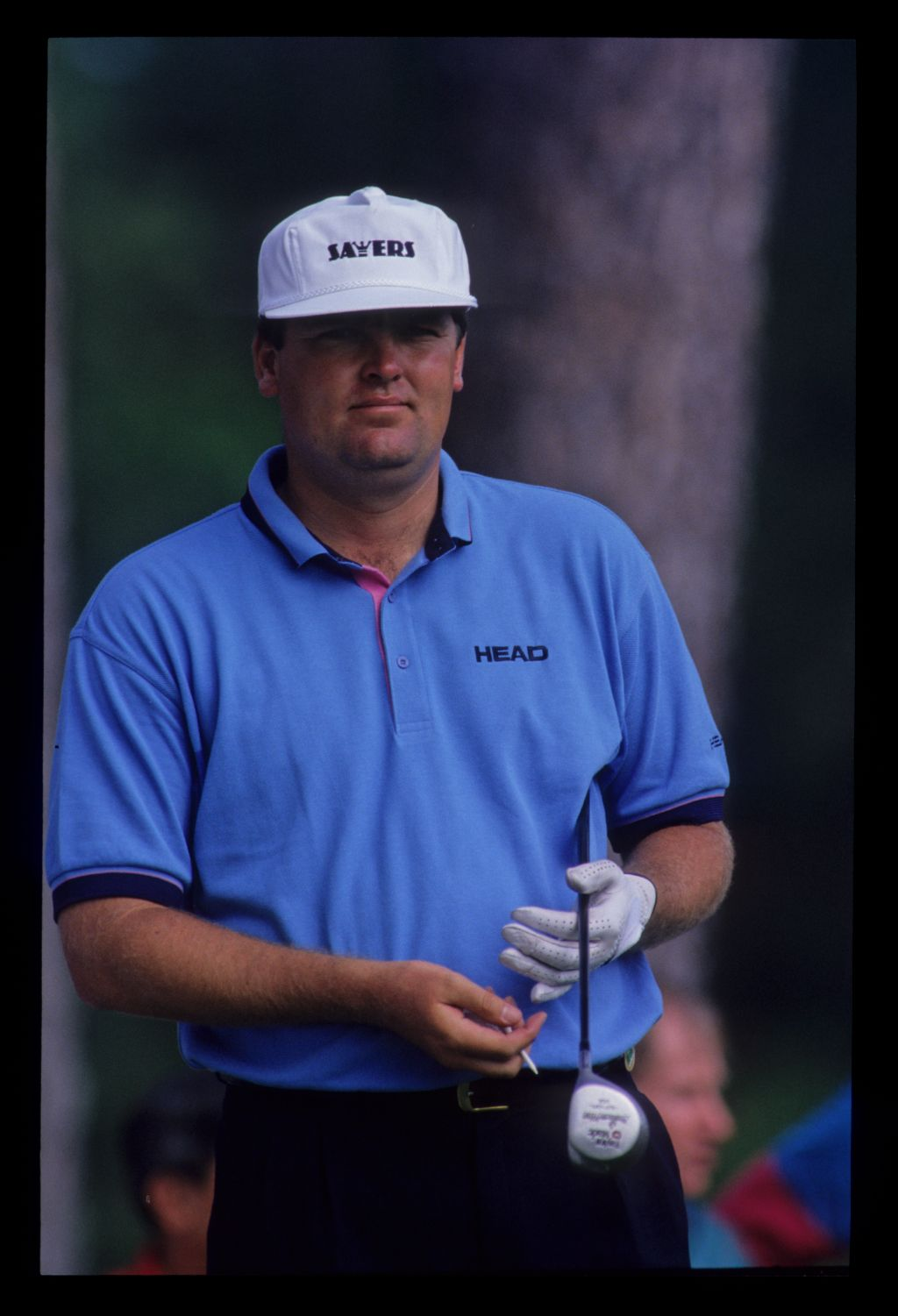 Steven Richardson preparing to drive during the 1992 Masters
