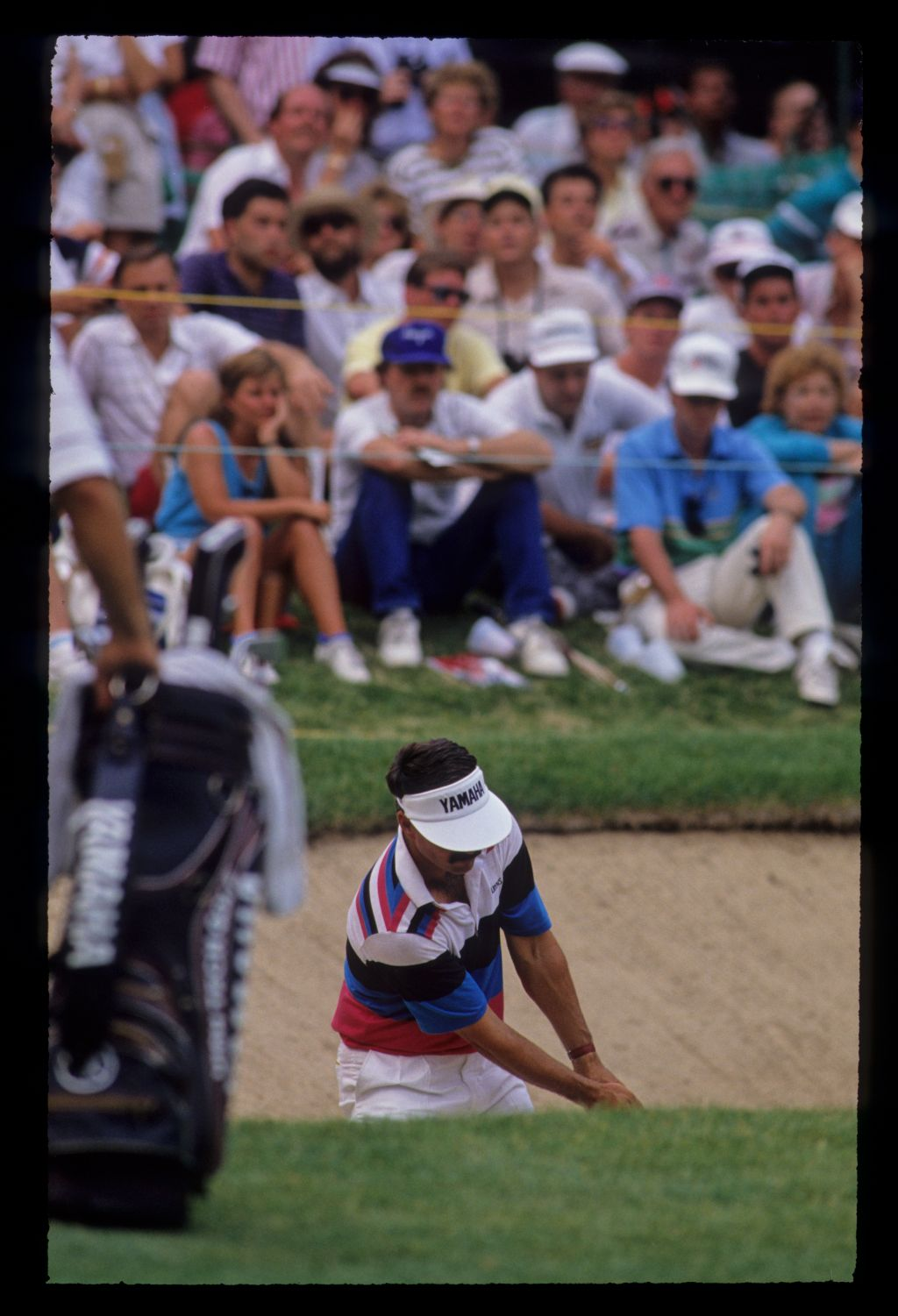 Scott Simpson splashing from a bunker during the 1990 US Open