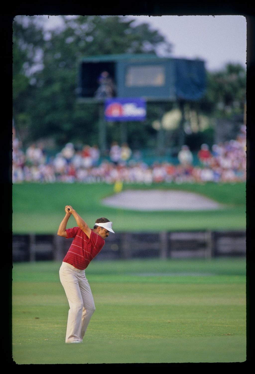 Scott Simpson at the top of his backswing on the fairway during the 1987 Hertz Bay Hill Classic
