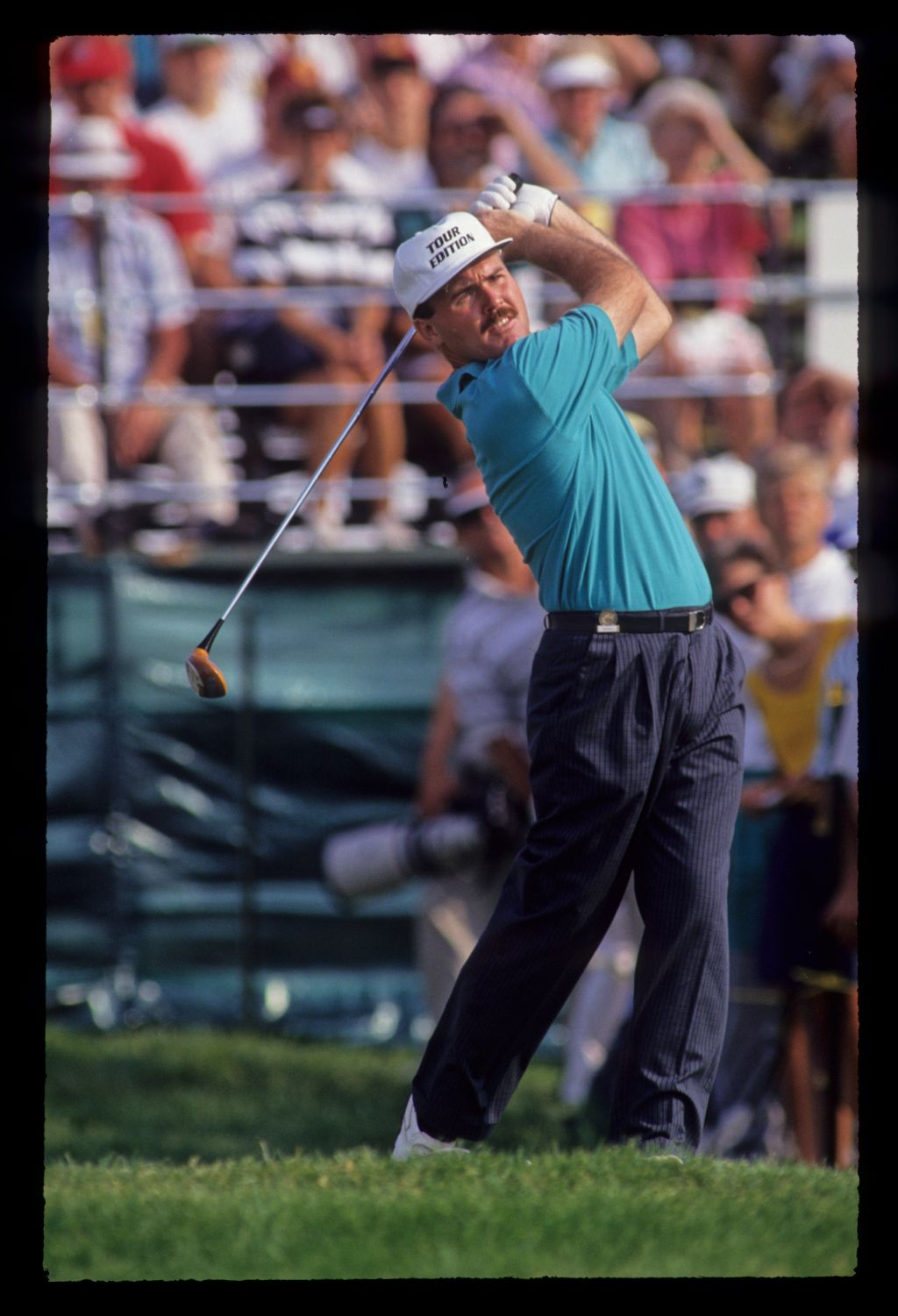 Ronan Rafferty following through on the tee during the 1991 US Open