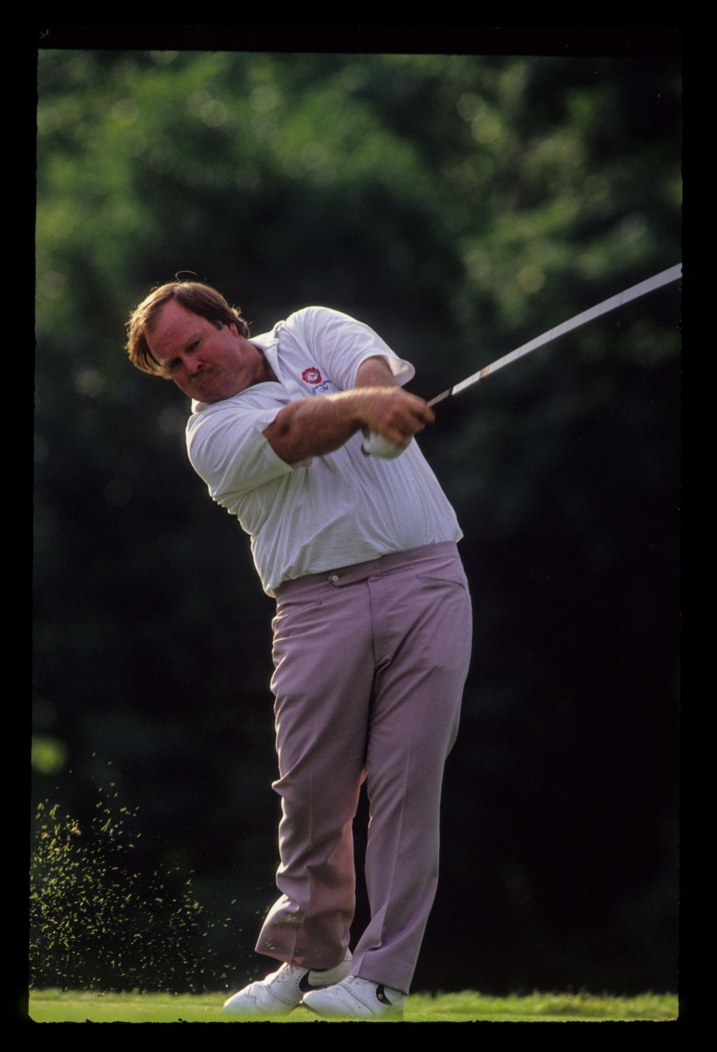 Craig Stadler powering through the ball on the tee during the 1991 US Open