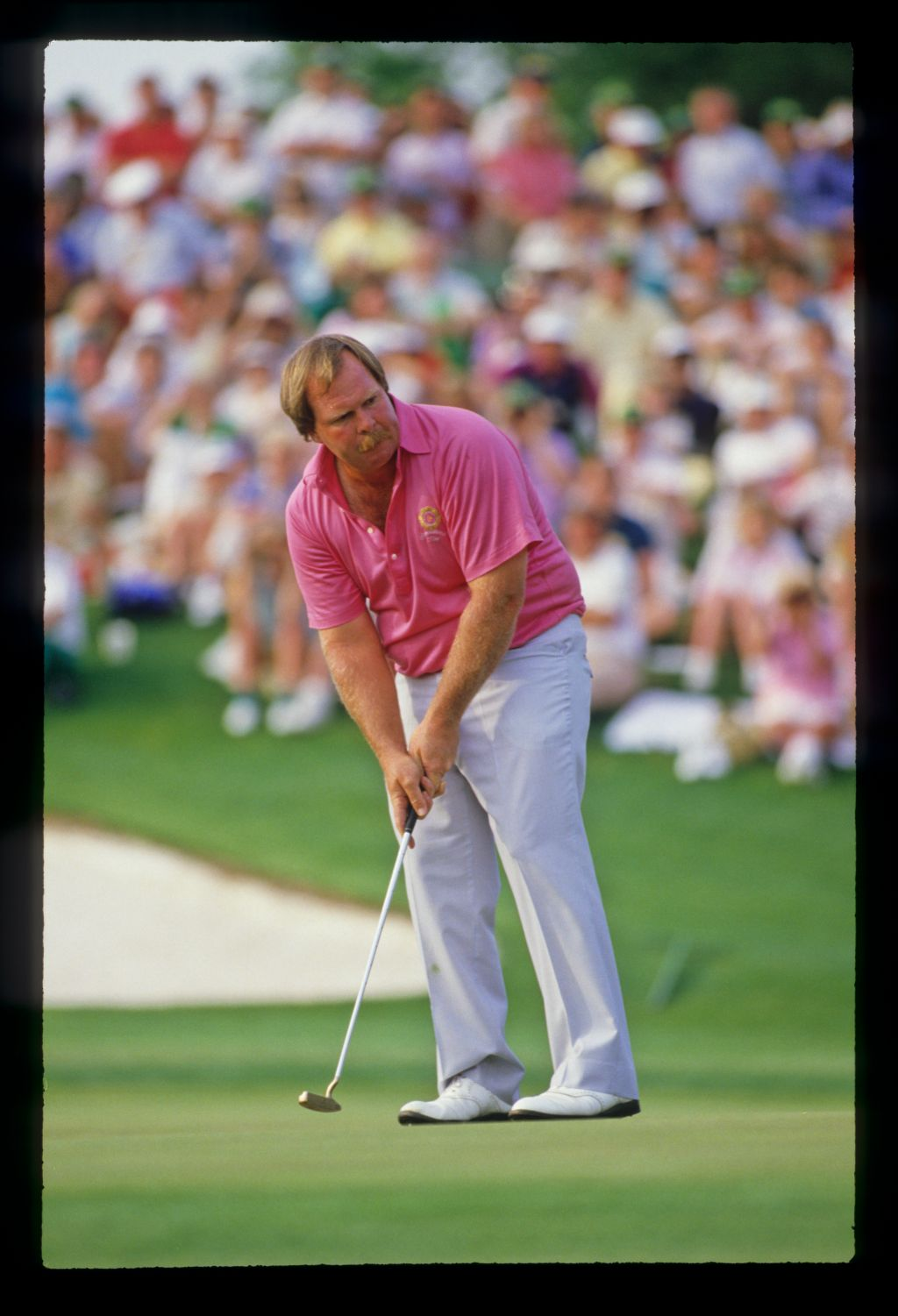 Craig Stadler willing a putt to drop during the 1988 Masters