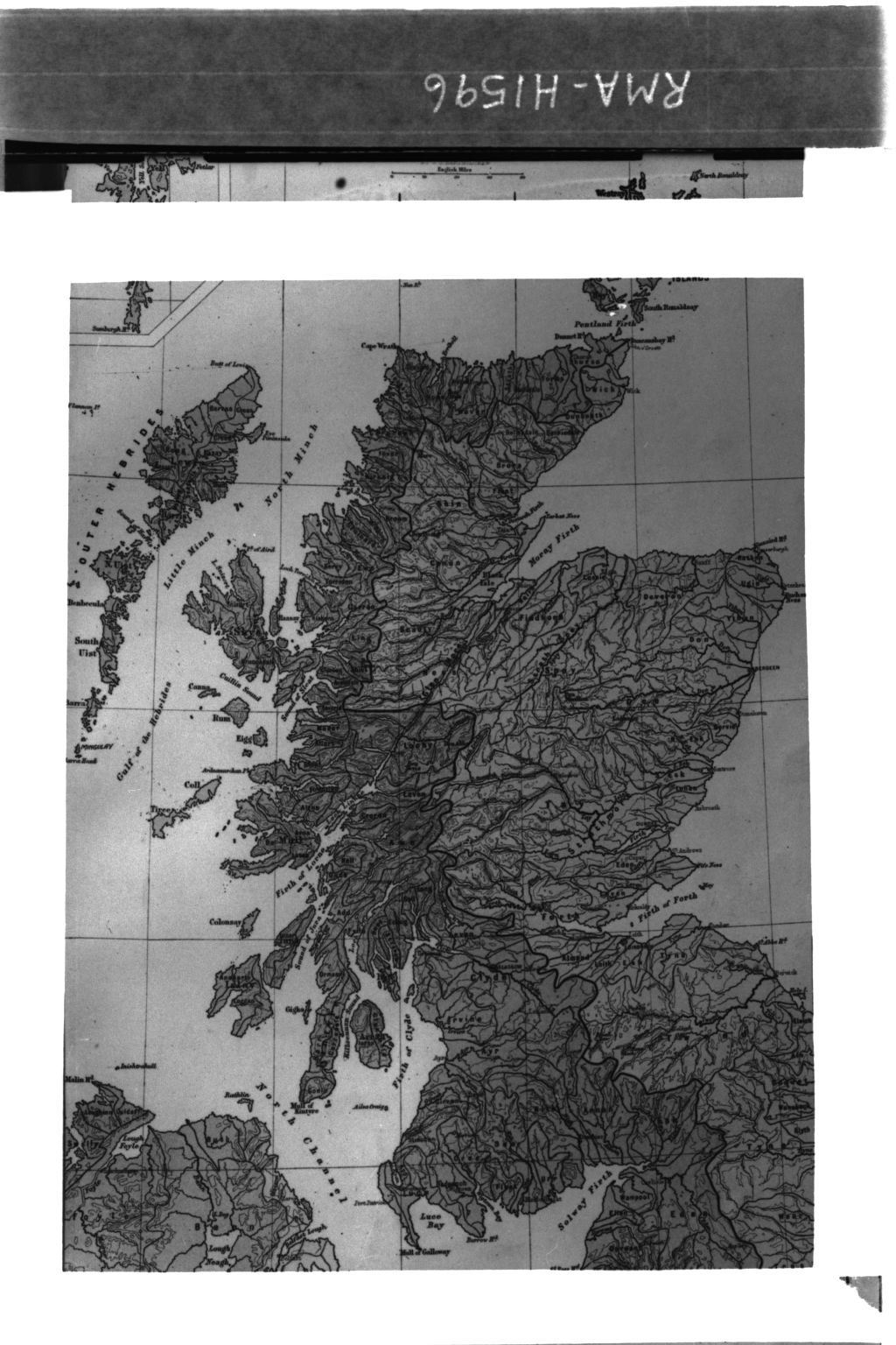 Map of Scotland from Atlas.