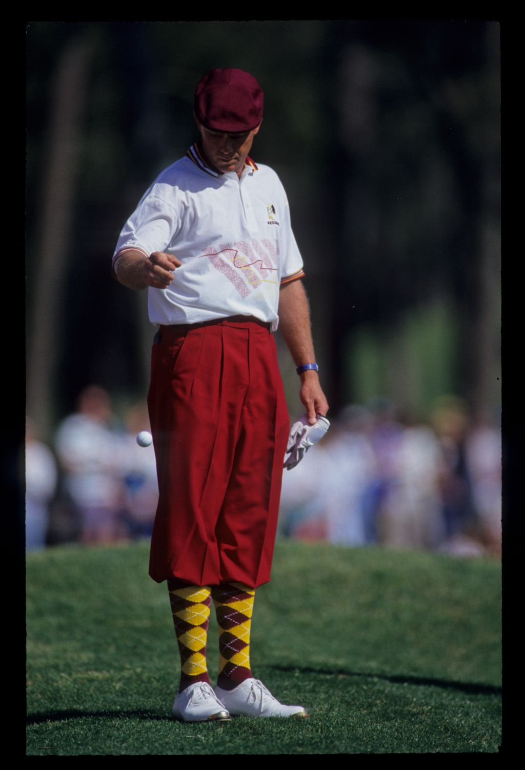 Payne Stewart taking a drop during the 1993 TPC