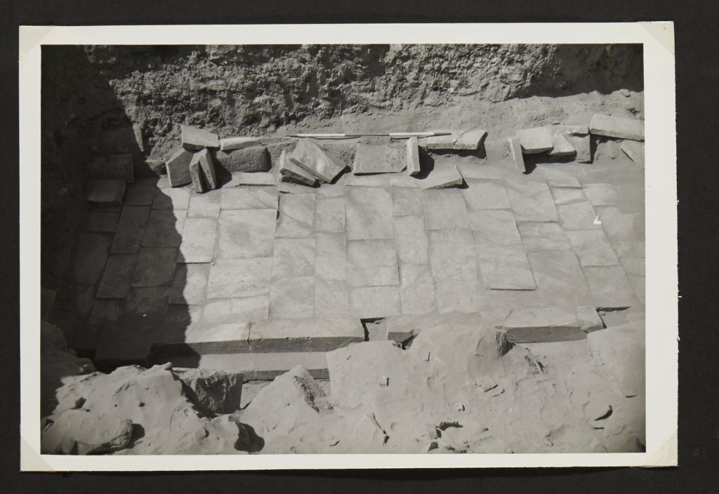 [Pavement recovered during excavations]