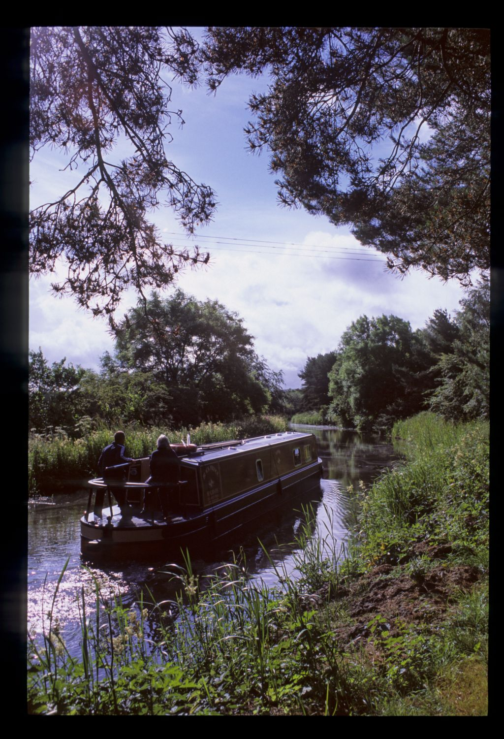 Heading west from bridge 51, the Union Canal [the Vellore Road Bridge, Muiravonside, near Linlithgow].