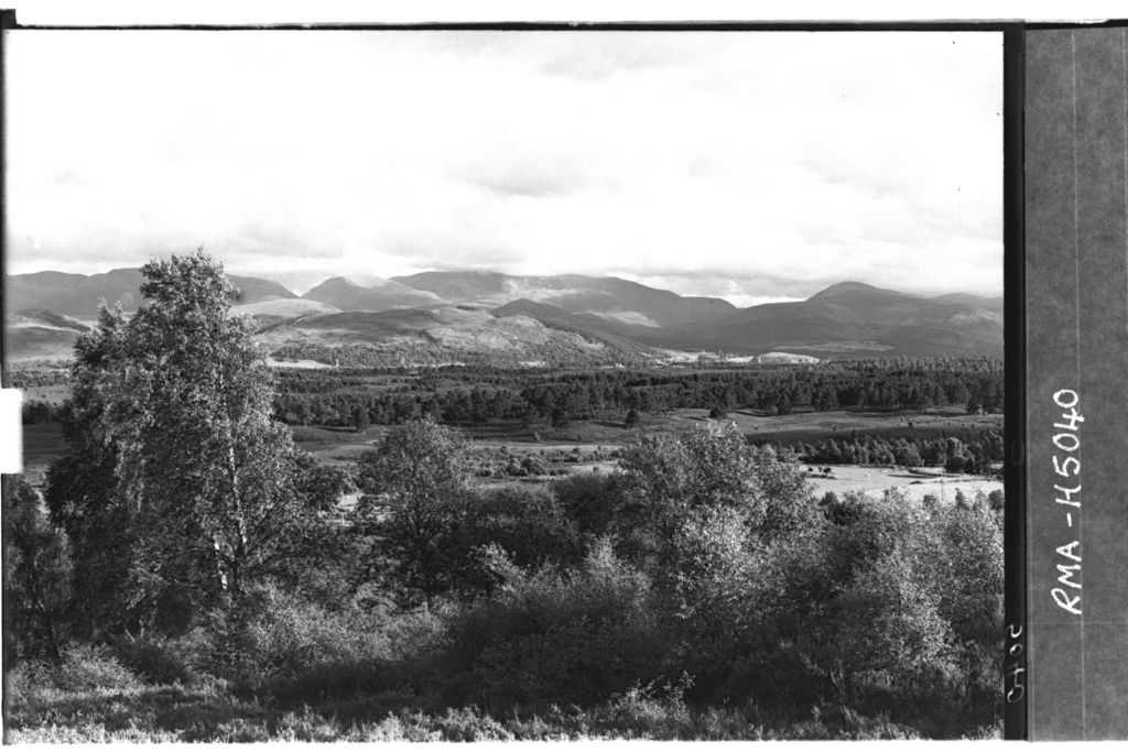 Cairngorm range from Docharn.