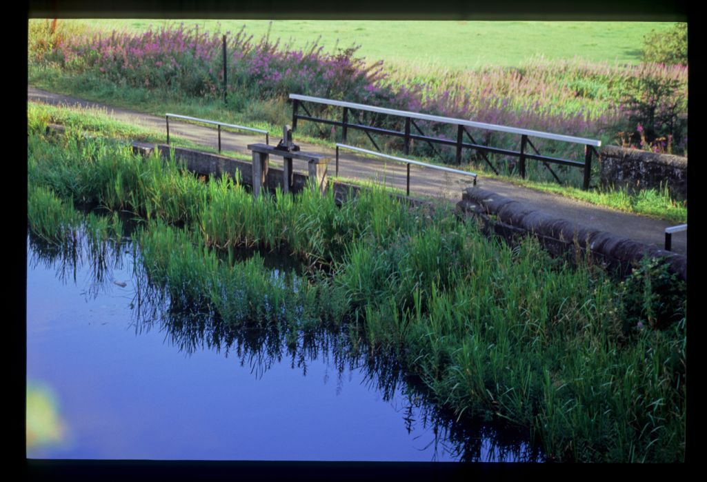 The overspill at Craigmarloch Bridge [Forth and Clyde canal].