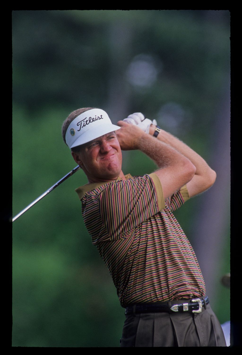 Steve Elkington following through on the tee during the 1992 Masters