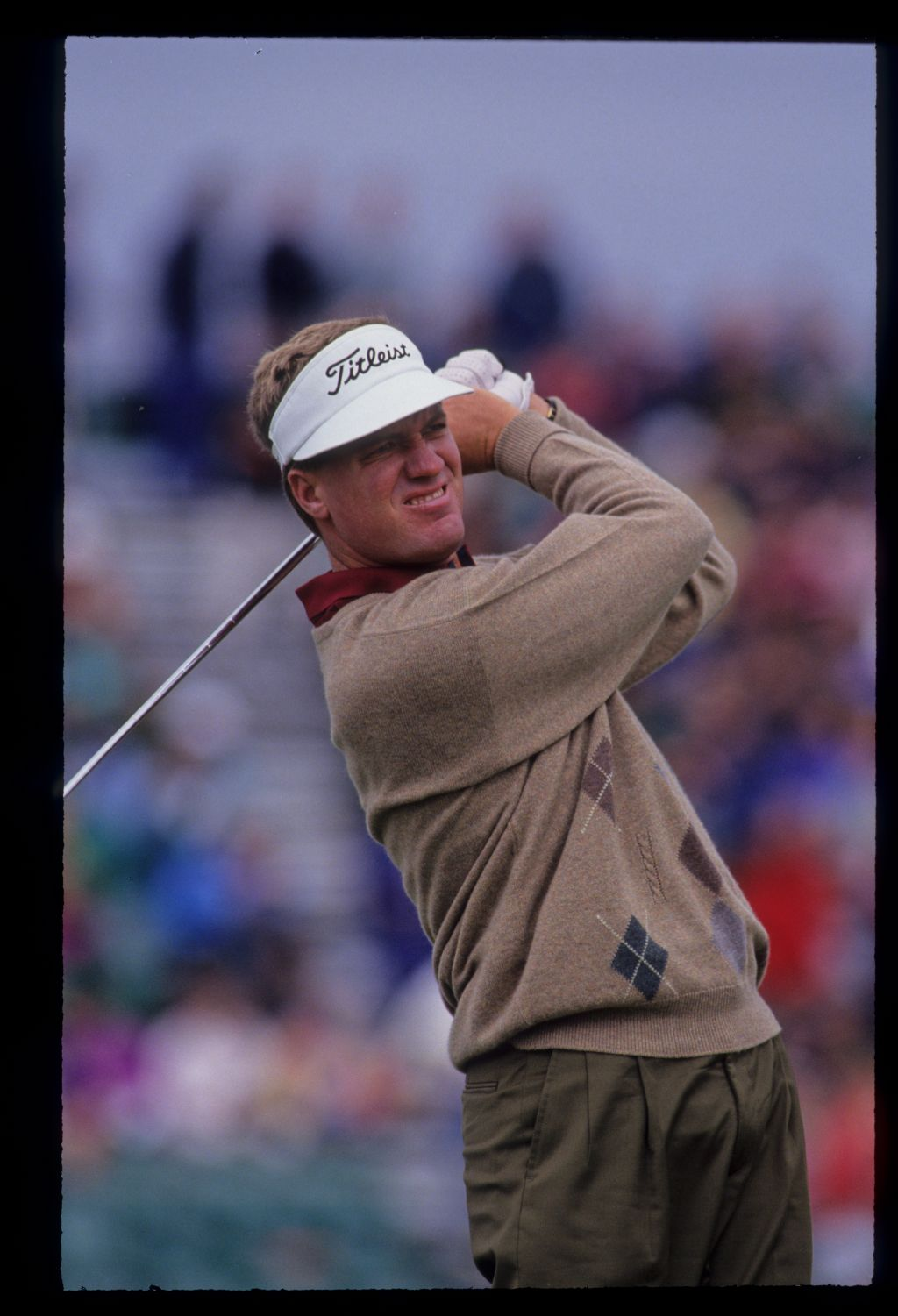 Steve Elkington hands high during the 1992 Open Championship